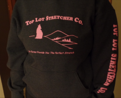 Top Lot Stretcher Co. Hooded Sweatshirt 2XL & 3XL- Pink Letterin