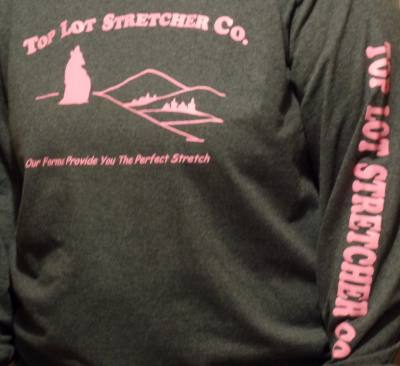 Top Lot Stretcher Co. Long Sleeve T-shirt - Pink Lettering